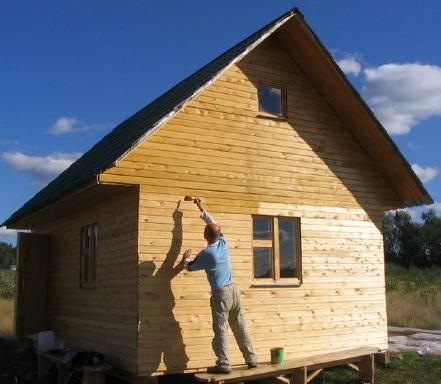 Как сделать фасад деревянного дома